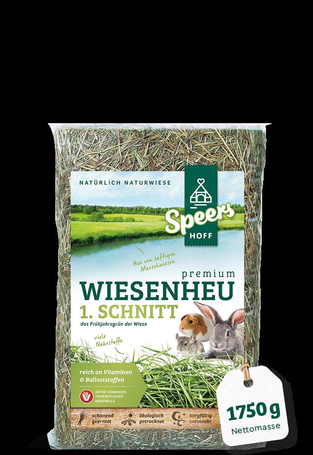 1750 Gramm Verpackung Speers Hoff Produkt Premium Wiesenheu 1. Schnitt für Kaninchen, Chinchillas und Meerschweinchen