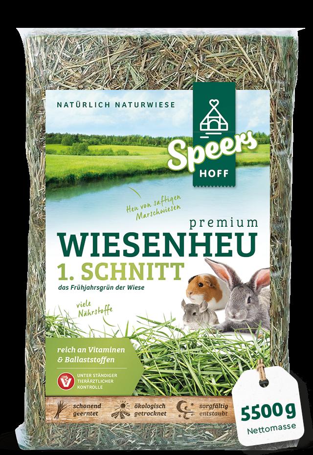 5500 Gramm Verpackung Speers Hoff Produkt Premium Wiesenheu 1. Schnitt für Kaninchen, Chinchillas und Meerschweinchen