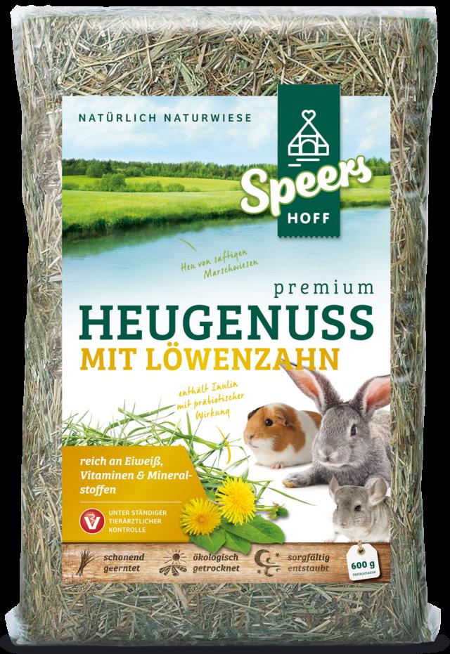 600 Gramm Verpackung Speers Hoff Produkt Premium Heugenuss mit Möhren für Kaninchen, Chinchillas und Meerschweinchen