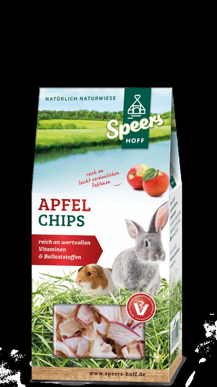 Verpackung Speers Hoff Produkt Apfelchips für Kaninchen und Meerschweinchen