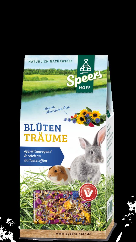 Verpackung Speers Hoff Produkt Blütenträume für Kaninchen und Meerschweinchen