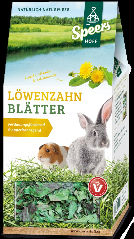 Verpackung Speers Hoff Produkt Löwenzahn Blätter für Kaninchen und Meerschweinchen