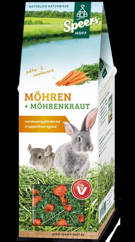 Verpackung Speers Hoff Produkt Möhren & Möhrenkraut für Kaninchen und Chinchillas
