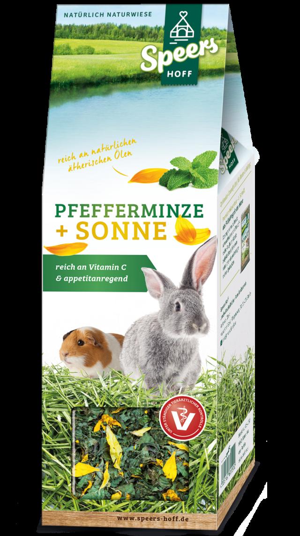 Verpackung Speers Hoff Produkt Pfefferminze & Sonne für Kaninchen und Meerschweinchen