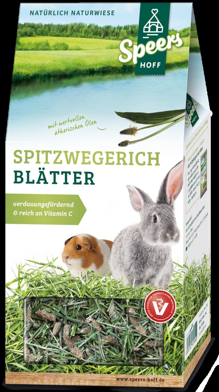 Verpackung Speers Hoff Produkt Spitzwegerich Blätter für Hasen und Meerschweinchen